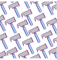 Hammer tool pattern background vector