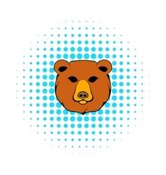 Head of bear icon comics style vector