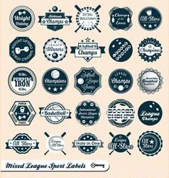 Mixed Sport Labels vector image vector image