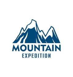 Mountain expedition alpine sport icon vector