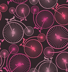Seamless pattern of vintage bicycles vector image