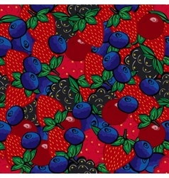 Seamless pattern with different berries vector image
