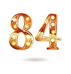 84 years anniversary celebration design vector image