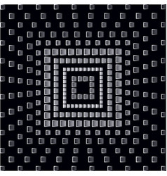 abstract monochrome squares on black background vector image