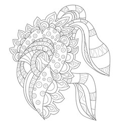 Adult coloring bookpage an abstract flower image vector