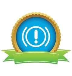 Alert certificate icon vector image