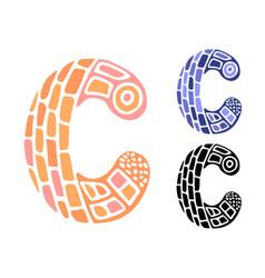 Alphabet letter c kids education poster vector