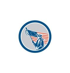 American Patriot Soldier Flag Circle Retro vector