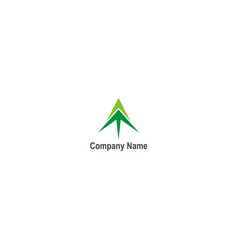 arrow up green company logo vector image