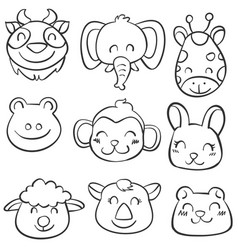 Art animal hand draw doodles vector