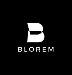 b letter white logo icon vector image