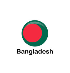 Bangladesh flag official colors and proportion vector