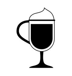 Beverage with foam coffee icon image vector