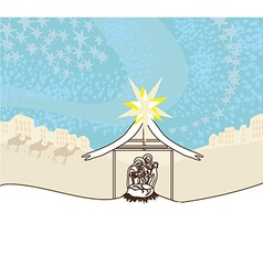birth of Jesus vector image