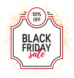 black friday concept vector image