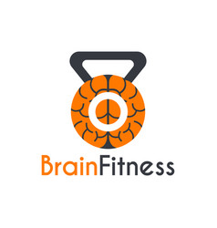 brain fitness instructor logo design template vector image