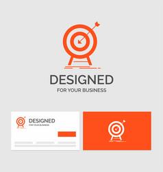 business logo template for goal hit market vector image