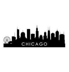 chicago illinois skyline silhouette vector image