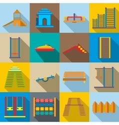Children playground icons set vector image