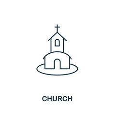 church outline icon premium style design from vector image