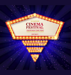 cinema festival theater sign vector image