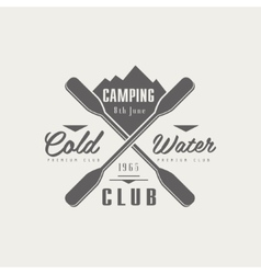 Coldwater Camping Club Emblem Design vector