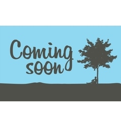 Coming soon temporary banner vector