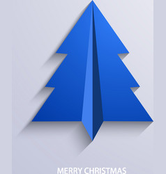 Concept christmas tree and origami airplane vector