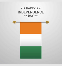 Cote d ivoire ivory coast independence day vector