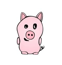 Cute piggy vector