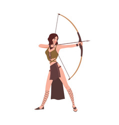 diana or artemis goddess hunt from roman or vector image