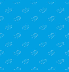 double bed pattern seamless blue vector image