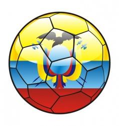 ecuador flag on soccer ball vector image