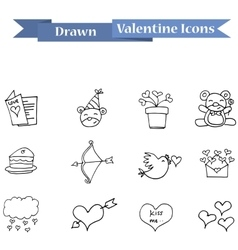 Element valentine day with hand draw vector image