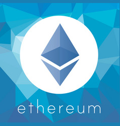 ethereum cripto currency logo vector image