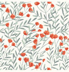 field foral seamless pattern-03 vector image