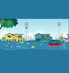 flood town vector image