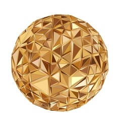 geometric disco ball isolated holidays background vector image