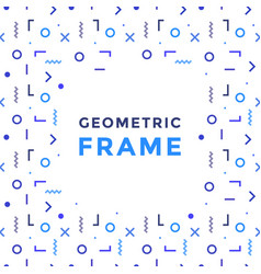 Geometric shapes frame rectangles lines vector
