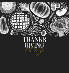Happy thanksgiving day design template vector
