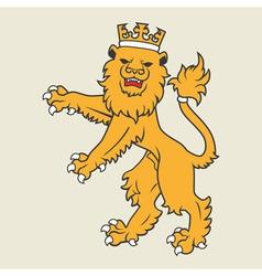 Heraldic lion36 vector