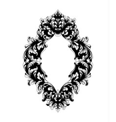 Imperial baroque mirror frame french luxury rich vector