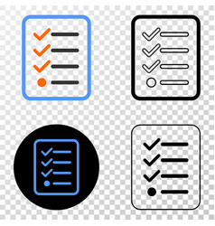 Items list page eps icon with contour vector