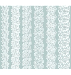Lacy vintage trim set of white lacy vintage vector