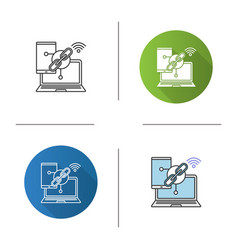 link sharing icon vector image