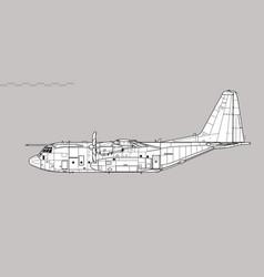 Lockheed martin hercules c5 c-130j vector