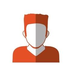 Man head and torso silhouette icon Avatar male vector image