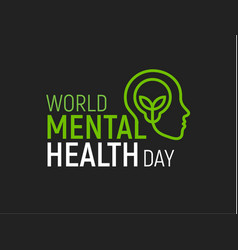 mental health modern logo world health day vector image