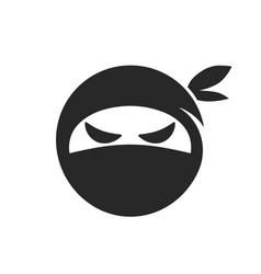 ninja head icon images vector image