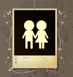 nostalgia of couples love vector image vector image